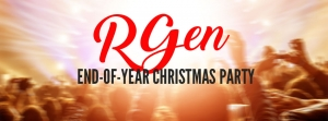 RGen end-of-year Christmas Party – Thursday, 8 December 2016