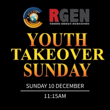 Youth Takeover Sunday - Sunday, 10 December