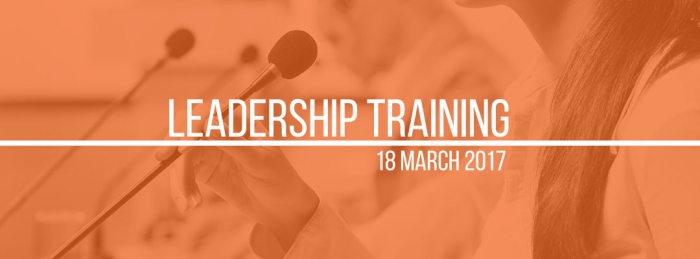 Leadership Training - Saturday, 18 March 2017