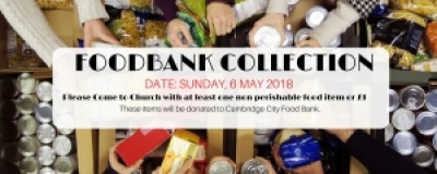 FOODBANK COLLECTION DAY - SUNDAY, 4TH FEBRUARY 2018